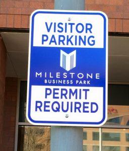Metal Signs 5c113d05e0df8 custom parking outdoor metal traffic sign safety wayfinding 256x300